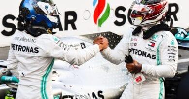 Hamilton-Bottas Mercedes baku