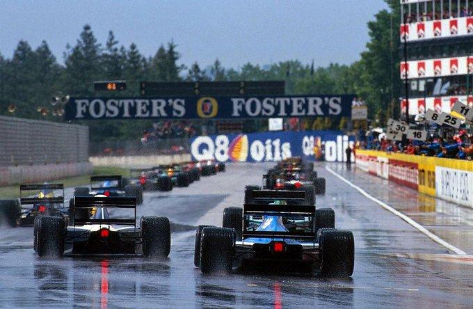 top 10 - wet conditions - Imola 1991