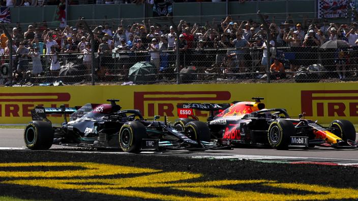 Lewis Hamilton Max Verstappen Toto Wolff BritishGP